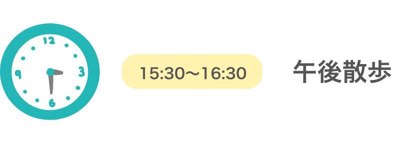 15:30~16:30/午後散歩