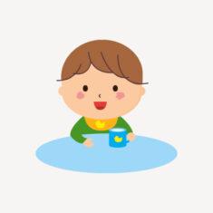 水分補給〜おやつ(牛乳・麦茶) 9:15〜